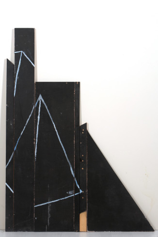 6 piece pyramid, acrylic on wood, 122 x 69 x 1.7, 2014