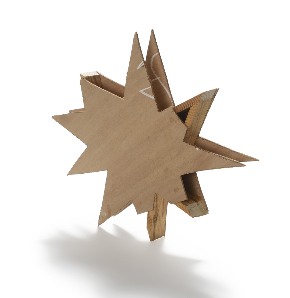 On-Sale explosion, wood, 46 x 40 x 5, 2014